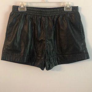 Bcbg maxazria faux leather shorts